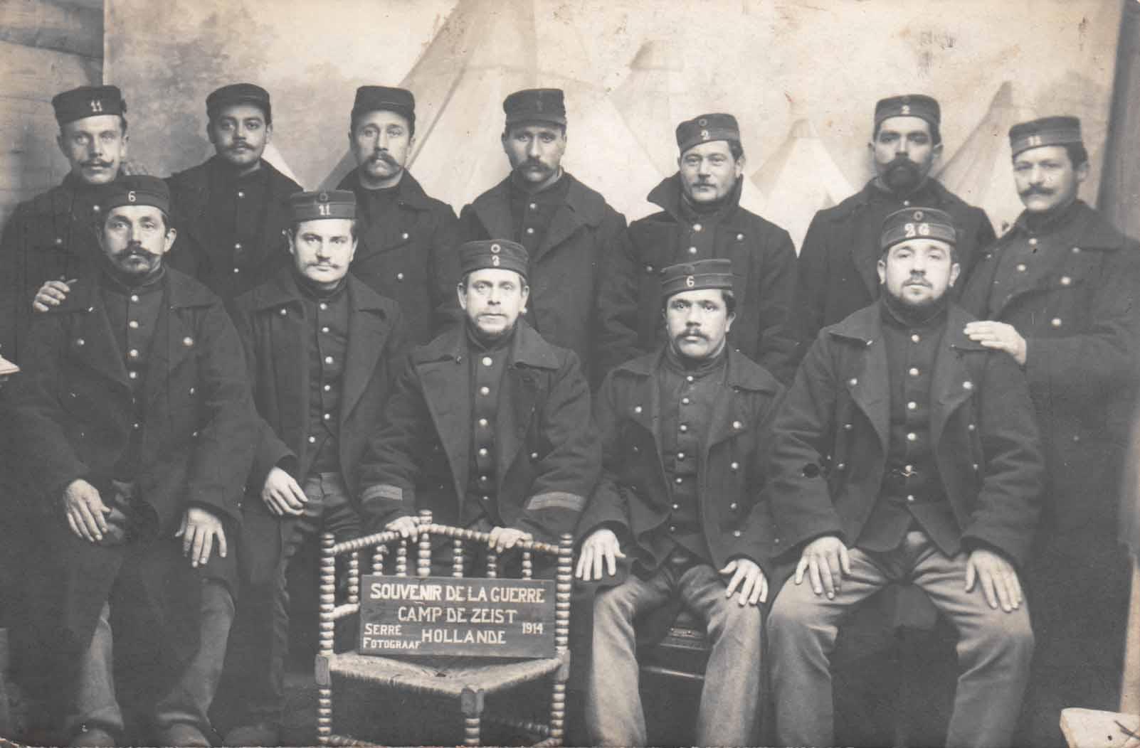 Lembeekse soldaten in het interneringskamp van Zeist in 1914
